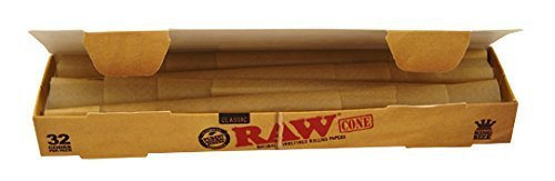 RAW Classic Pre-Rolled Cone King Size-2 x 32 Stück-109 mm-Basic64, Gelb, S