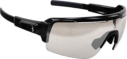BBB Unisex volwassenen Cycling sportbril Commander| fietsbril met waterafstotende coating| Photochromatische fietsbril met anti-condens-wisselglans, zwart, 54 x 158 x 153 mm