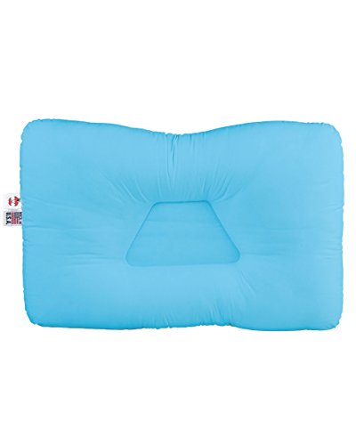 Core Products Tri-Core Cervical Support Pillow for Neck Pain, Orthopedic Contour Pillow, Standard Firm, Blue, Full Size 24' x 16'