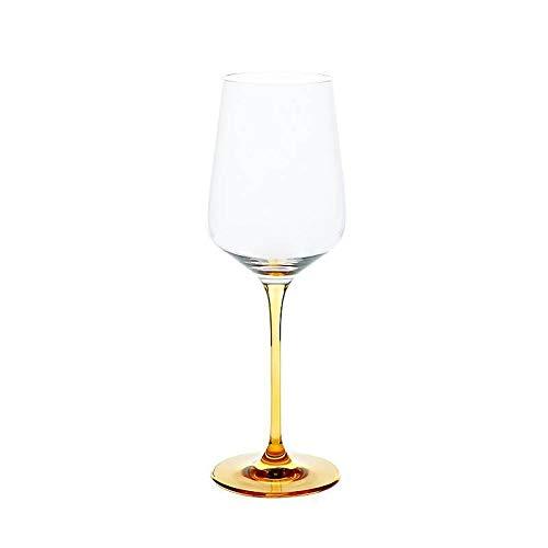 CRISTALICA Weinglas Weinkelch Charisma Rot- und Weißwein 450ml klar mit orangenem Stiel