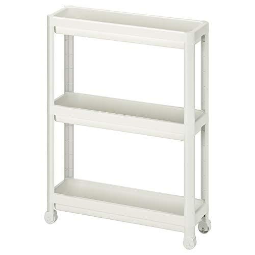 IKEA VESKEN Rollwagen, Badregal weiß 54x18x71 cm / 2 STÜCK