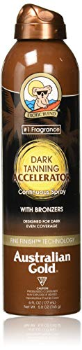 Australian Gold Dark Tanning Accelerator Continuous Spray Bronzer | 6 Ounce