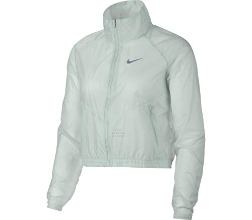 Nike Women's Running Division Jacket (Small, Barely Grey)