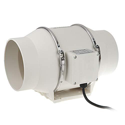 Vinteky Extractor Ventilador de Aire en Línea Super Ligero y Silencioso para Oficina, Hotel, Baño - ø100 mm, 310m³/h