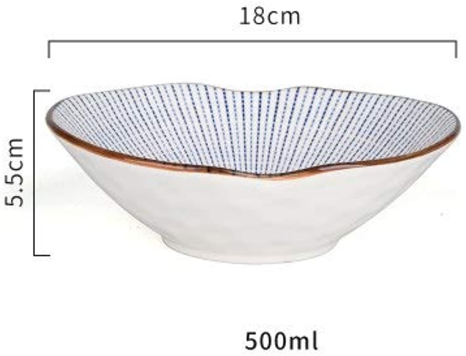 Zoomy far Japanese Style Heng FENG Ceramic Tableware Smed R Bowl Sauce Dish Soup Bowl Fish Plate procelain Sushi Plate   7inch Bowl