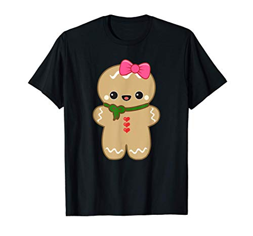 Funny Christmas Cookie Gingerbread Cute Girl Women kids Gift T-Shirt