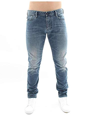 Emporio Armani 8N1J06 1D19Z Jeans Uomo Blu Denim 34