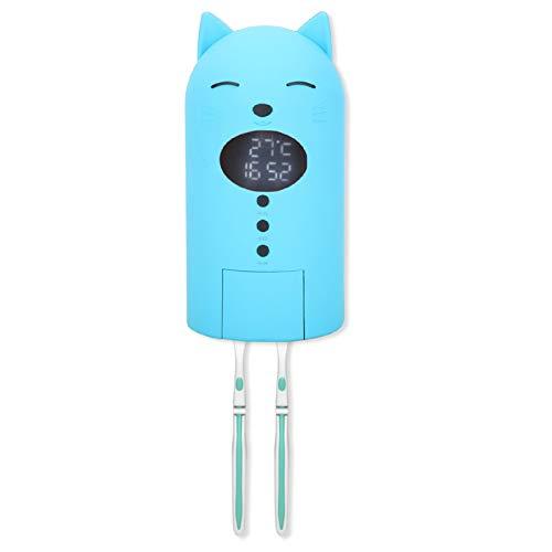 Esterilizador UV para cepillos de dientes para niños, soporte de pared para desinfección de cepillos de dientes, herramienta de limpieza de cepillos de dientes, lindo esterilizador UV [azul], esterili