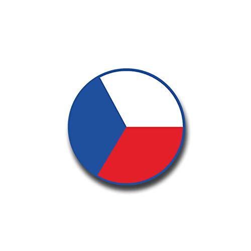 Aufkleber/Sticker Tschechien Prag Fahne Flugzeugkorkade Roundel 7x7cm A1355