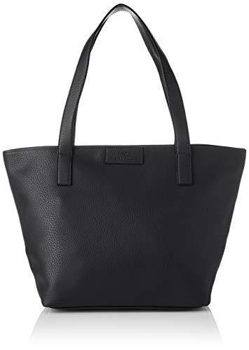 TOM TAILOR Shopper Damen, Miri Zip, Schwarz (Schwarz), 17.5x28x36 cm, TOM TAILOR Schultertasche, Handtaschen Damen