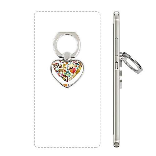 DIYthinker Frankrijk liefde Parijs Eiffelboog van triomf hart mobiele telefoon Ring standaard houder universele ondersteuning geschenk
