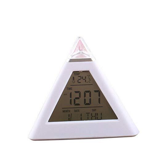 HHKX100822 Reloj Despertador De Color Triangular De 7 Colore