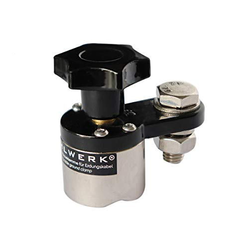 STAHLWERK Massemagnet bis 200A schaltbarer Massemagnet für Schweißkabel, Magnetische Erdungsklemme bringt Masse an jedes magnetische Werkstück, belastbar bis zu 200A