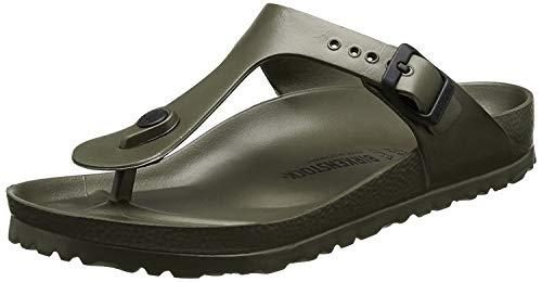 Birkenstock Schuhe Gizeh EVA Normal Khaki (128271) 38 Gruen