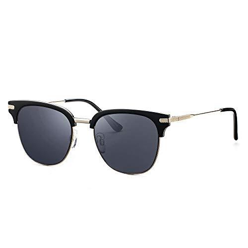 Avoalre Dameszonnebril Halfomrande UV-bescherming 400 Fashion Metal Lens 2020 - Zwarte heks