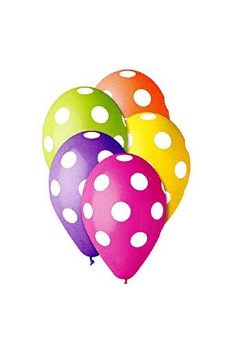 10 Ballons Pois 30 cm