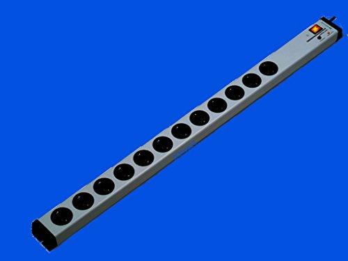 Vario® Linea 12-Fach-Steckdosenleiste mit Überspannungsschutz + Netzfilter + Zentral-Hauptschalter