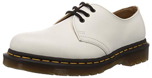 Dr. Martens Women's 1461 DS 3 Eye Oxfords, White, 5 Medium US