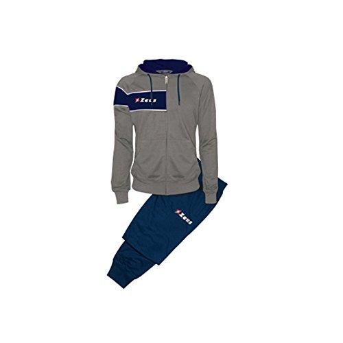 Tuta Clio Grigio-Blu Zeus Corsa Sport Uomo Staff Running jogging Allenamento Relax Calcio Calcetto Torneo Scuola Sport (L)