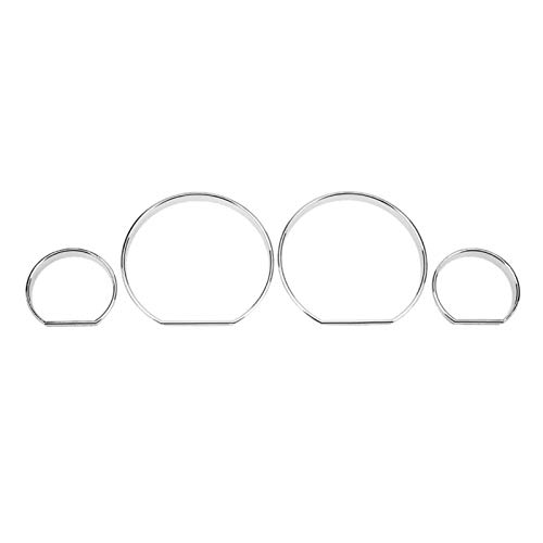 WJSXJJ 4pcs Car Interior Front Instrument Panel Decorative Frame Stickers Trim Dial Ring Trim Auto Interior For BMW E46 Car Accessory