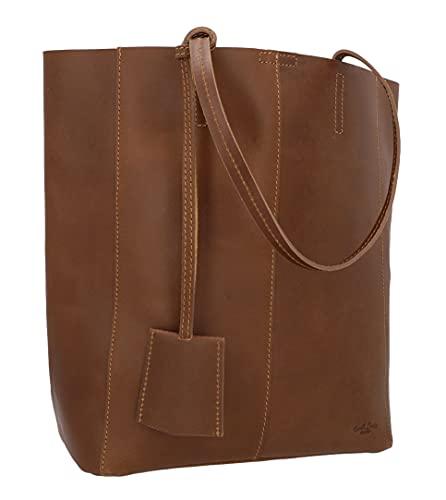 Gusti borsa da donna borsa in vera pelle borsa a spalla borsa shopper 13L borsa Cassidy marrone