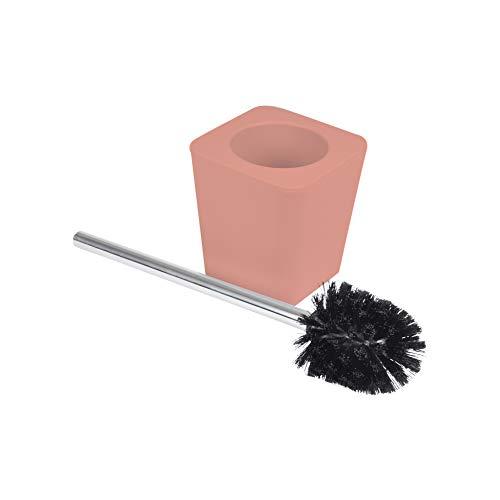 Douceur d'Intérieur 6ASB228CO Brosse WC 11.6 X 11.6 X 38.2 cm Plastique Uni Soft Touch Vitamine Corail, ABS, 11,6 x 11,6 x 38,2 cm