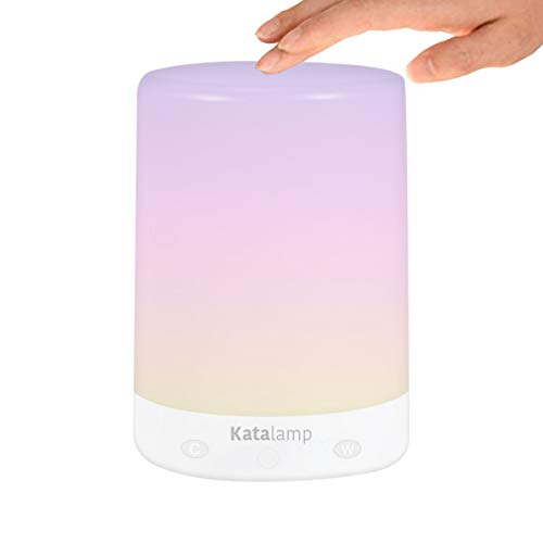 Bedside Touch Sensor Night Light with LED RGB Multi-Color Changing + Warm White, Easy Touch, Small and Portable, USB Rechargeable, Dimming Control, Bedroom Nightstand, Nursery