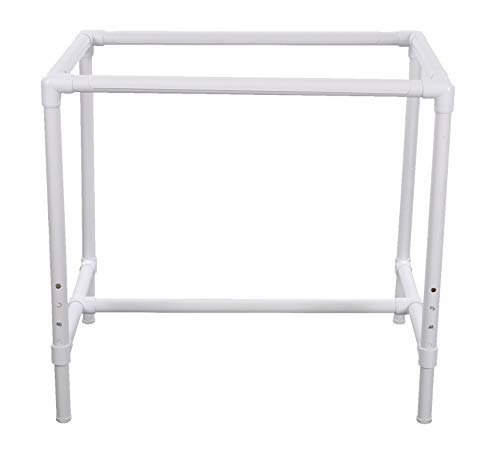 Dritz Quilter's Floor Frame, Adjustable, White
