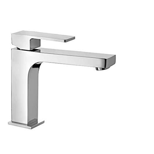 EFFEPI Monocomando lavabo H-Uno Bocca Lunga Cromato e Fornito con Scarico da 11/4'