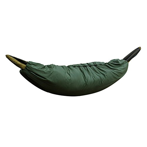 MagiDeal Ultra-light Full Length Camping Hammock Underquilt Under Quilt Blanket Sleeping Bag Fits 0℃-15℃ Cold Winter - Army Green
