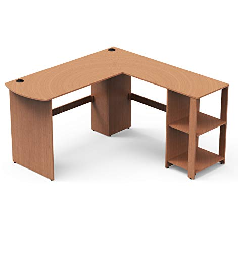 SHW L-Shaped Home Office Wood Corner Desk