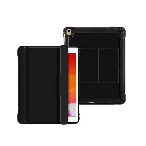 Funda para teclado para iPad 5/6/Air/Air 2/Pro 9.7 desmontable inalámbrico con BT retroiluminado 7 Color Tablet Case (iPad6/5/Air/Air2/Pro9.7, gris)