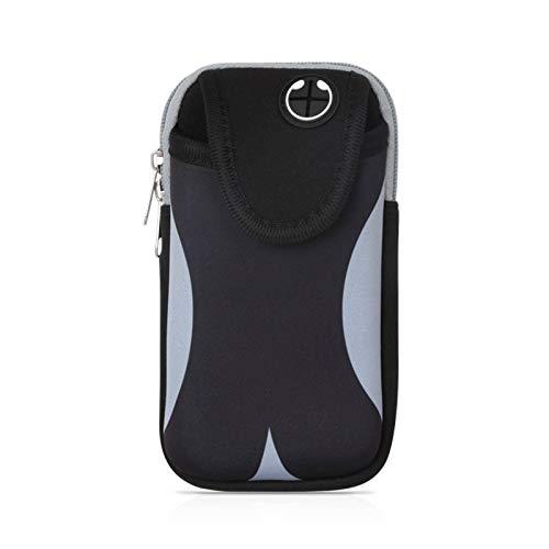 N-B Bolsa de Brazo para teléfono móvil para Correr al Aire Libre Bolsa de Brazo Deportiva Impermeable Bolsa de Brazo de Fitness Unisex Funda para Brazo Adecuada para iPhone 11 Pro MAX/XR /8/7 Plus