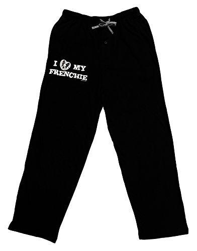 TOOLOUD I Heart My Frenchie Adult Lounge Pants - Black- XL