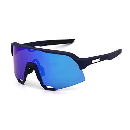 BDTLBJ Gafas de sol deportivas al aire libre para hombre y mujer, gafas de sol de arena, lentes de espejo grande (tamaño: rosa caja blanca estándar)
