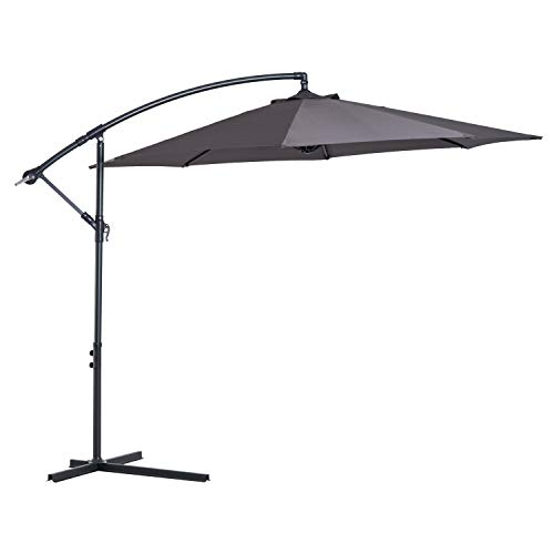 Outsunny 3 meter Cantilever Umbrella Garden Banana Parasol Patio Hanging...
