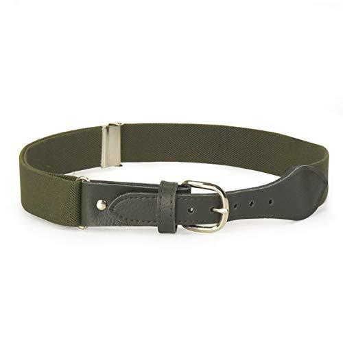 HOLD'EM Kids Toddler Belt Leather Closure Elastic - Olive Green