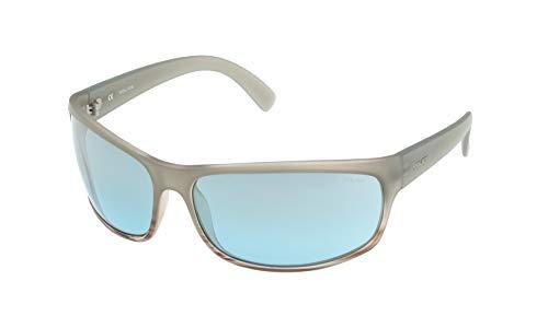 Police Spectrum 1 Gafas de sol, SEMI MATT TRANSPARENT LIGHT GREY FRAME/LIGHT BLUE MIRROR LENS, 63 para Hombre