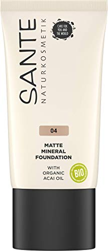 Sante Naturkosmetik Matte Mineral Foundation, 04 Cool Fawn, 30 ml