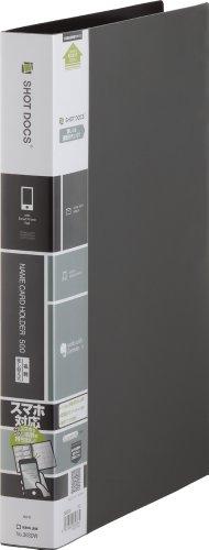 キングジム 名刺ホルダー ショットドックス 差替式 A4 500名 黒 36SDWクロ
