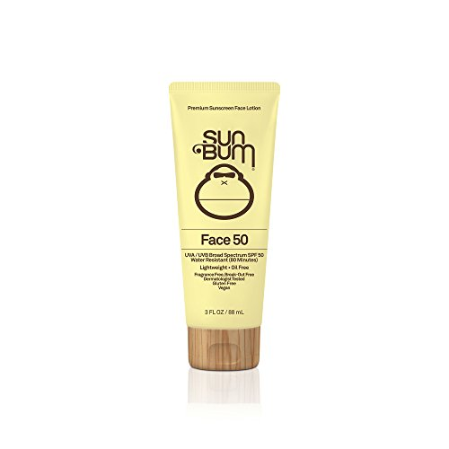 Sun Bum Original SPF 50 Sunscreen Face Lotion  | Vegan and Reef Friendly (Octinoxate & Oxybenzone Free) Broad Spectrum Fragrance-Free Moisturizing UVA/UVB Sunscreen with Vitamin E , Yellow ,  3 oz