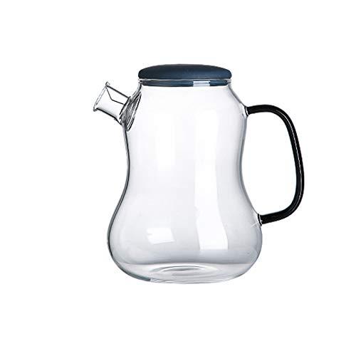 Jarra de Agua Jarra de vidrio para el hogar con tetera de vidrio anti-escaldado con filtro de acero inoxidable Filtro de gran diámetro fácil de limpiar (1400 ml) Jarras ( Color : Transparent )