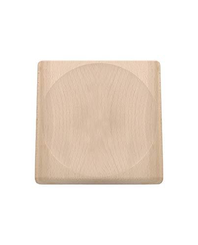 triangle 50 805 20 00 Schneidbrett für Wiegemesser 23x23 cm aus Buche Made in Germany praktisch Kräuterbrett Wiegemesserbrett