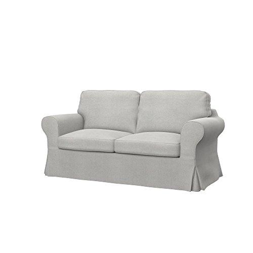 Soferia - Ikea EKTORP Fodera per Divano Letto a 2 posti, Glam Light Grey