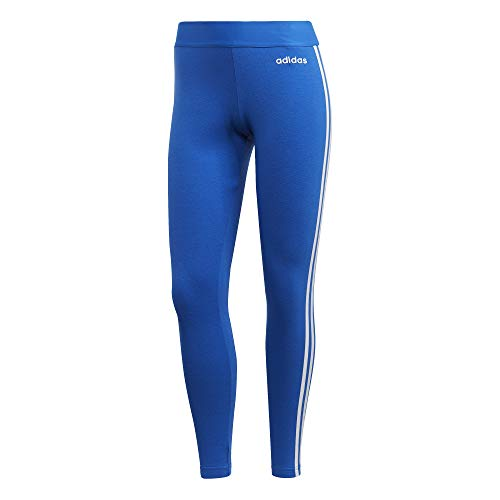 adidas Damen Essential 3Streifen Tights, Blue/White, M