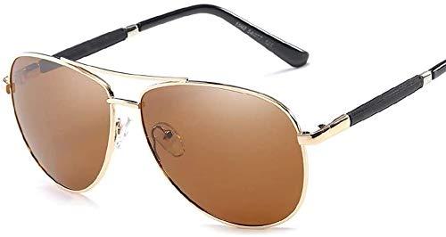 Gafas de sol antideslumbrantes, Sunglass Fashion Polarized light Retro para hombre Gafas de sol de resina de metal Protección solar Gafas de sol UV400 para ciclismo, conducción, esquí de carrera