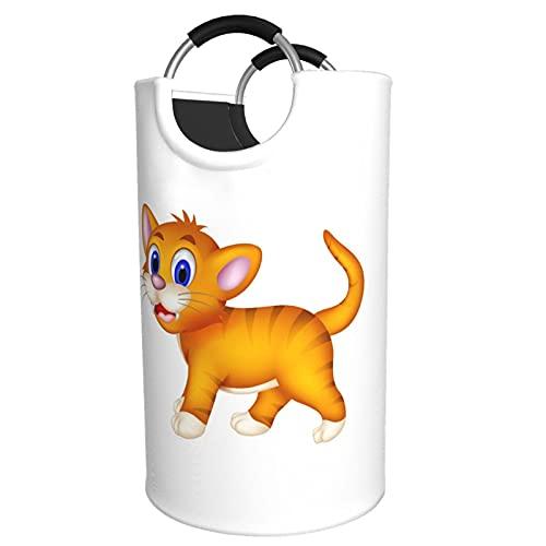 Sunmuchen Cesta de lavandería con diseño de gato, impermeable, grande, para ropa, juguetes, dormitorio, baño, con asas de aluminio