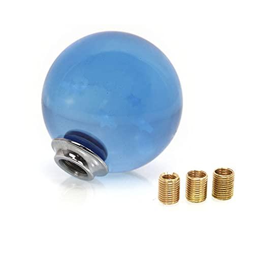 YOURPAI Schaltknauf, Kristall-Stil, r&er Kugel-Schaltknauf mit Adapter, Universal-Acryl-Stick, passend für die meisten Getriebefahrzeuge, blau