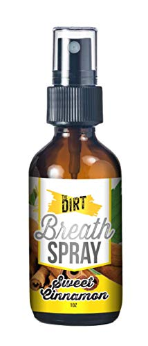 The Dirt Breath Spray, All Natural, Alcohol Free and Sugar Free, Glass Bottle, Essential Oils for...