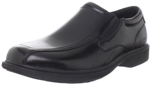 Nunn Bush Men's Bleeker Street Slip On Loafer with KORE Slip Resistant Comfort Technology, Black, 10 Medium US